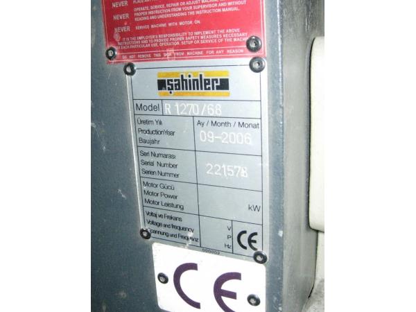 Продам листогиб трехвалковый ручной R1270/68 sahinler 2006 г.в.