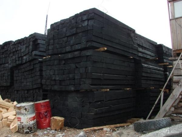 Полушпала деревянная пропитанная Тип 2 . Цена 460 руб шт