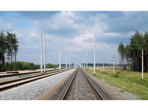 Опоры автоблокировки железных дорог