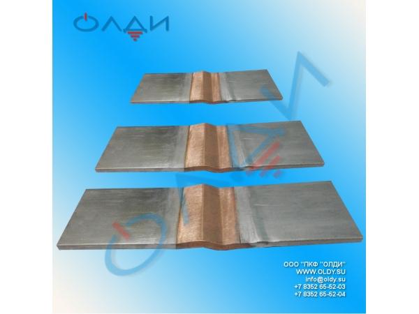 Компенсаторы шинные медные КШМ на токи до 8000А.