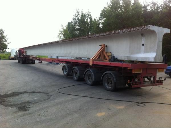 Перевозка мостовых балок пролетного строения