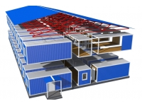 Модульные здания, вахтовые посёлки, быстровозводимые здания.