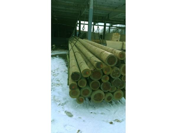 Опоры ЛЭП и ЛЭС деревянные пропитанные