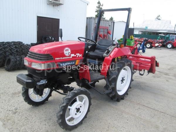Японский мини трактор YANMAR F7H