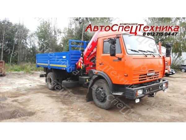 КамАЗ-43253 (бортовой) с манипулятором Fassi F80A.0.22