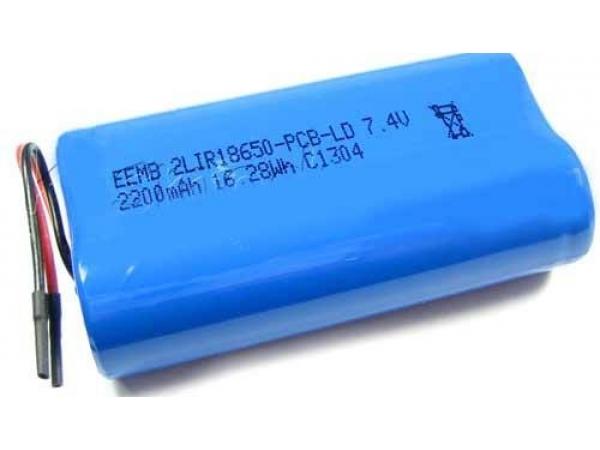 Аккумулятор 2LIR18650-PCB-LD