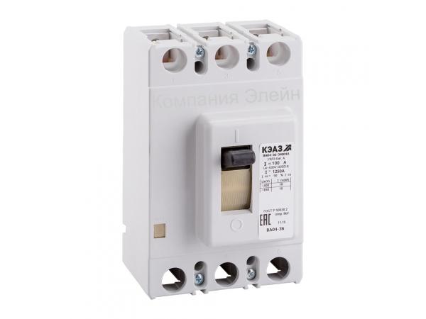 Автоматический выключатель ВА04-36 цена купить