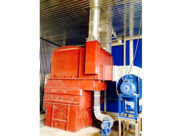Теплоагрегат для отопления производственных помещений.