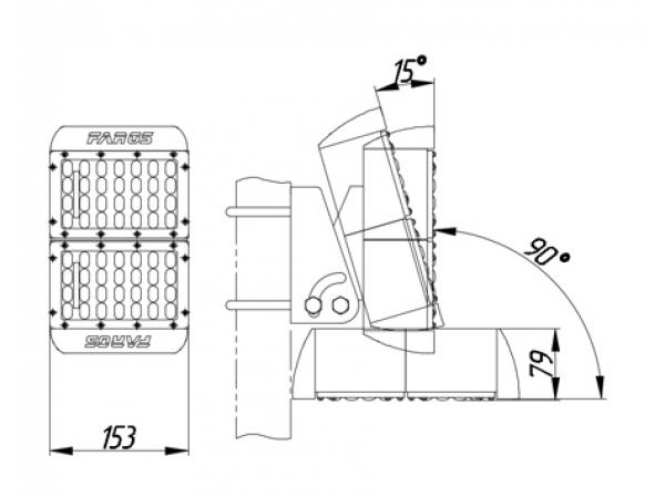 Промышленный светодиодный светильник FAROS FW 150 50W