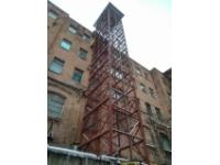 Аренда башенного приставного, шахтового крана