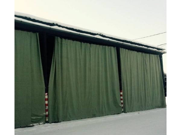 Изготовление брезентовых штор по индивидуальным заказам.