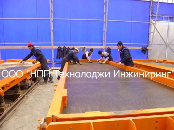 Линия производства дорожных плит ПДН-14 (до 8 плит/сутки)