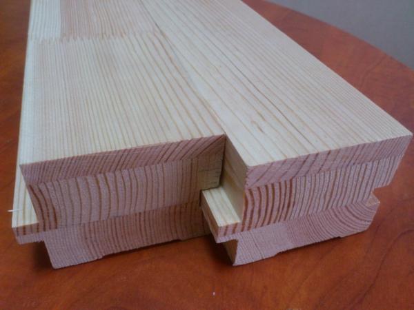 Палубный брус различных сечений двухслойный и трехслойный