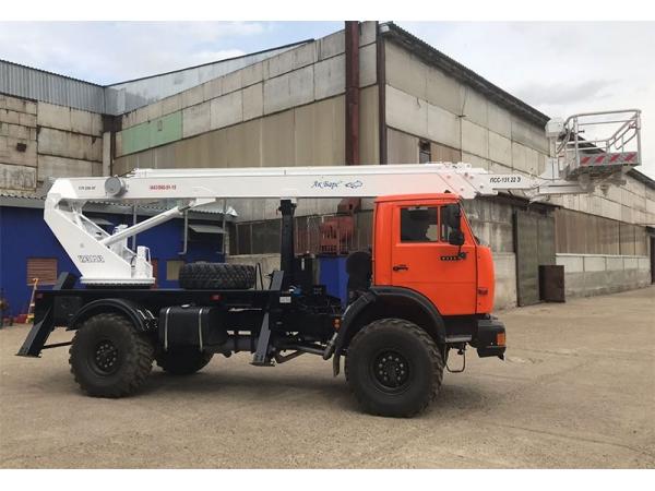 Автогидроподъемник телескопический ПСС-131.22Э на КАМАЗ 43502-3036-66
