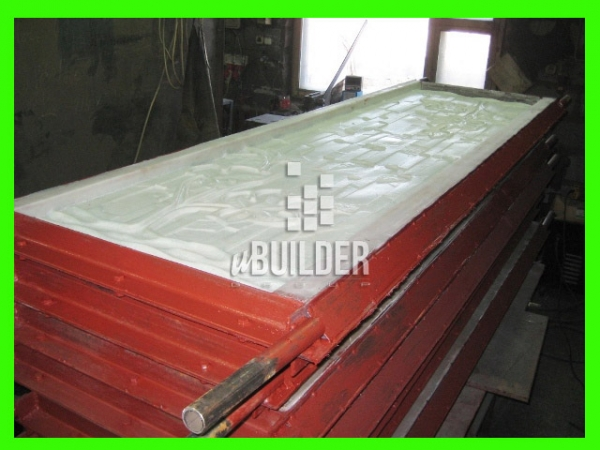 Форма стеклопластиковая для заборов бетонных