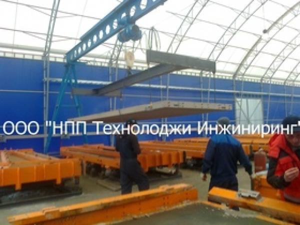 Линия производства аэродромных и дорожных плит (8 плит в сутки)