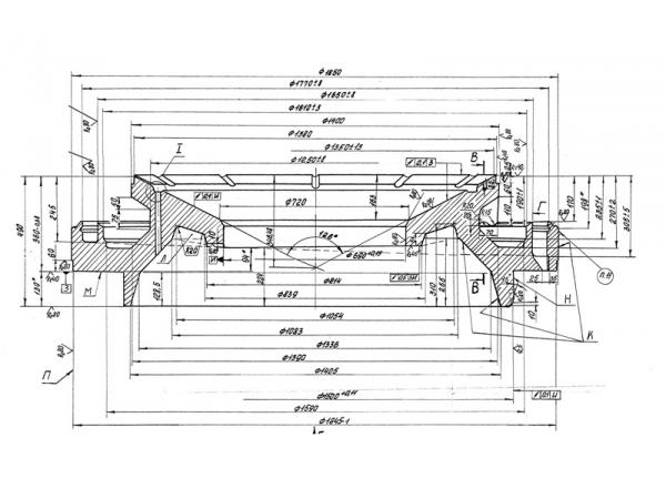 Корпус чаши КСД/КМД-2200, ч. 1275.04.205-1