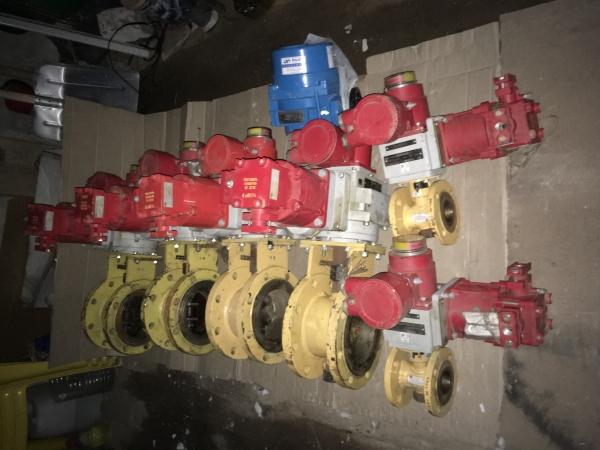 Заслонки дроссельные с электроприводами МЭОФ, для ГРП*АМАКС-газ.*