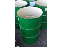 Бочка металлическая пищевая , крышка хомут б/у 216.5 литров