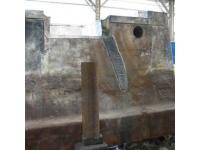 Ремонт шаботов и станин молотов без демонтажа