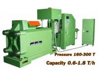 Линия Пресс брикетирования металлической стружки (Ф брикета 90-220мм)