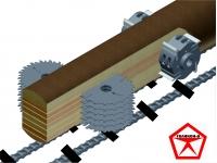 Станок фрезерно-брусующий многопил для переработки тонкомера СПТ-280