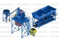 Мобильный бетонный завод 7 м3 в час