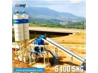СТАЦИОНАРНЫЙ БЕТОННЫЙ ЗАВОД S100-SNG (100m³/h)