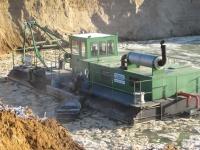 Земснаряд Doepke, для добычи песка и гравия. Аренда земснарядов.