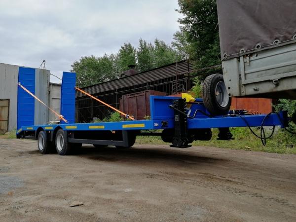 Низкорамный прицеп 8817 для перевозки спецтехники до 19 тонн