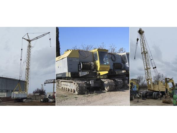 Аренда монтажных кранов МКГ на гусеничном ходу гп 25 - 40 тонн
