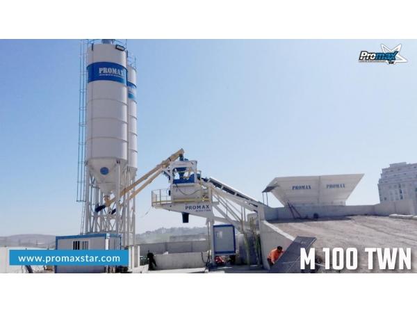 Mobile Concrete Batching Plant PROMAX M100-TWN (100m³/h)