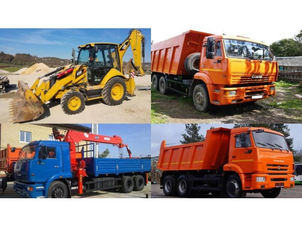 Услуги спецтехники, доставка щебеня, песка, камня, вывоз мусора