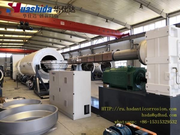 Экструзионная линия для производства трубы-оболочки ПЭ 125мм-315мм
