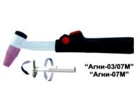 АГНИ-07МУ Горелка для аргонодуговой сварки (Шлейф усиленный)