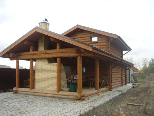 дом из тесанного бревна проекты