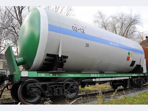 железнодорожная цистерна для перевозки жидкого кислорода