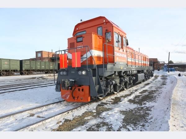 Железнодорожный парк Гайского ГОКа пополнился новым тепловозом